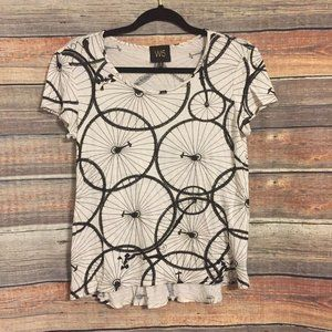Anthropologie W5 bicycle pattern tee